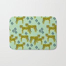 Cheetah safari nursery kids animal nature pattern print gifts Bath Mat