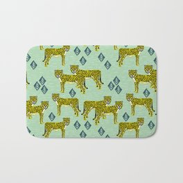 Cheetah safari nursery kids animal nature pattern print gifts Bath Mat
