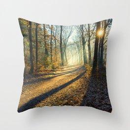 Forest Sunburst Throw Pillow