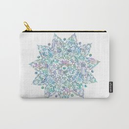 Mermaid Dreams Mandala on White Carry-All Pouch