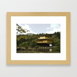 Kinkakuji Temple Framed Art Print