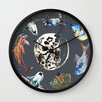 cosmic Wall Clocks featuring Cosmic by AnnaW