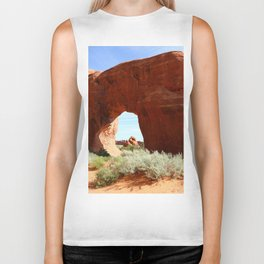At The End Of The Trail - Pine Tree Arch Biker Tank