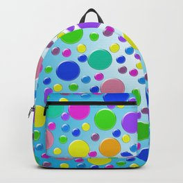 Confetti on blue background Backpack