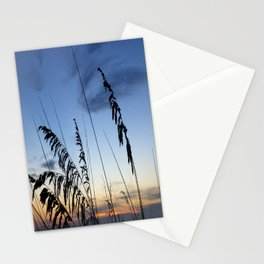 Sea Oats Silhouette Stationery Cards