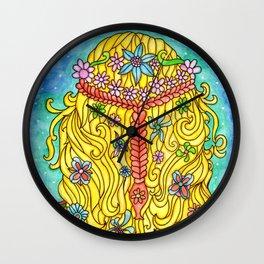 Watercolor Doodle Art | Wild Child Wall Clock