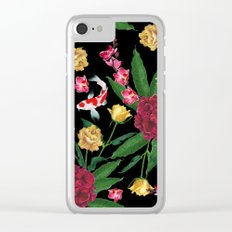Black Tropical Clear iPhone Case