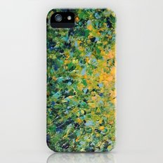 IRISH SUNRISE - Beautiful BOLD Lime Kelly Forest Green Sunrise Sunset Abstract Nature Painting Slim Case iPhone (5, 5s)