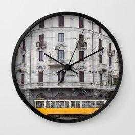 Milan Yellow Street Car Wall Clock