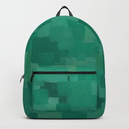 Squares Within Squares Green Backpack