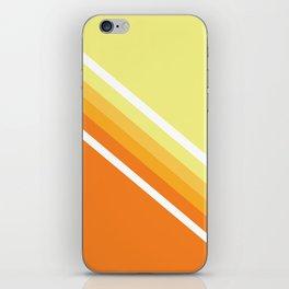Retro Orange n' Yellow Lines iPhone Skin