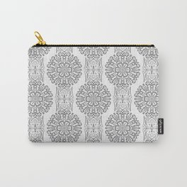 Gray white Damask ornament . Carry-All Pouch