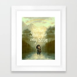 End of the Storm Framed Art Print