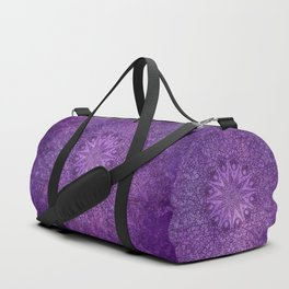 star mandala deep in the dark purple dream Duffle Bag