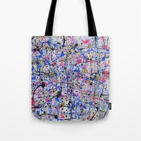 trip Tote Bags featuring TRIP by Art Book Of  Amanda