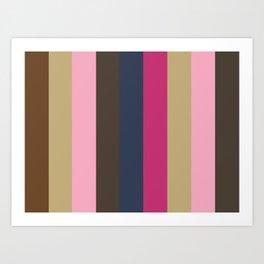 SENTIMENT:(S)epia (E)cru (N)adeshiko Pink (T)aupe (I)ndigo (M)agenta (E)cru (N)adeshiko Pink (T)aupe Art Print