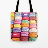 macarons Tote Bags featuring Macarons by Sankakkei SS