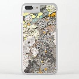 Lichen color Clear iPhone Case