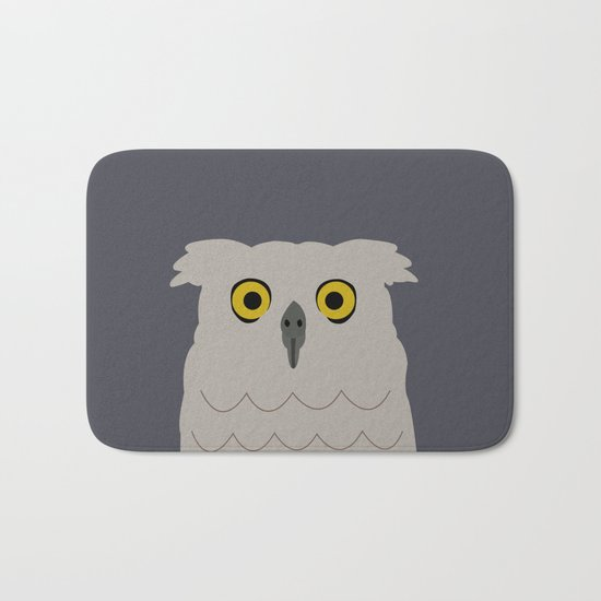 Wide Eyed Owl Bath Mat