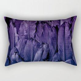 Blue Purple Feathers Rectangular Pillow