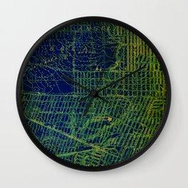 Holywood old map year 1924 green art print Wall Clock