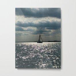 """Lake Erie Sailboat"" photography by Willowcatdesigns Metal Print"