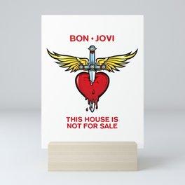 bon jovi logo tour 2019 2020 mentah Mini Art Print
