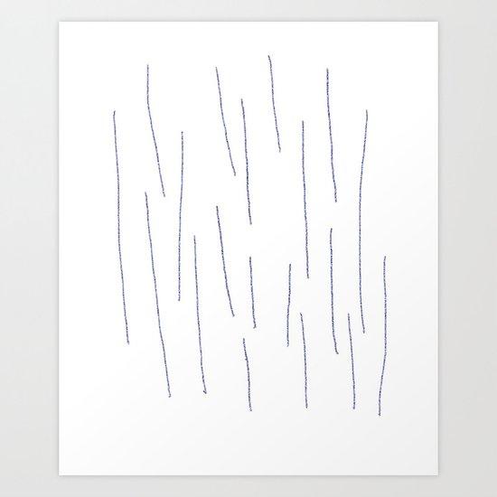 Grainy Stripes Art Print