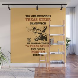 Texas Steer Sandwich Wall Mural