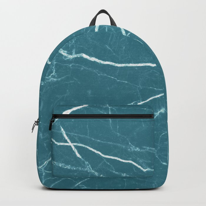 Blue marble abstract texture pattern Backpack