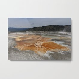 Mammoth Hot Spring Colors Metal Print
