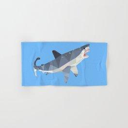 Low Poly Great White Shark Hand & Bath Towel