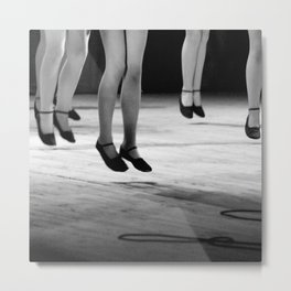 Live with both feet off the ground, inspirational dance black and white photography - photographs Metal Print