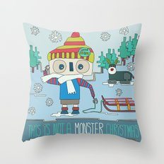 This is not a Monster Christmas Throw Pillow