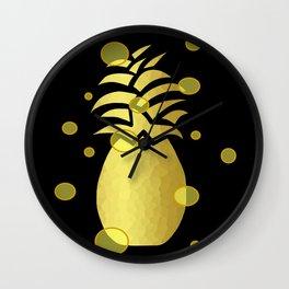 Ornate Gold Pineapple Wall Clock