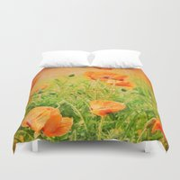 poppies Duvet Covers featuring POPPIES by Teresa Chipperfield Studios