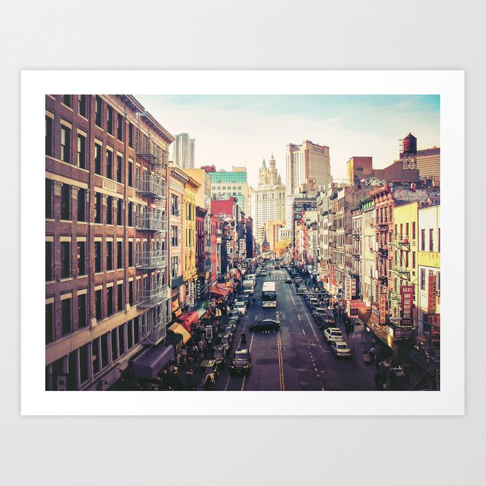 New York City Above Chinatown Art Print