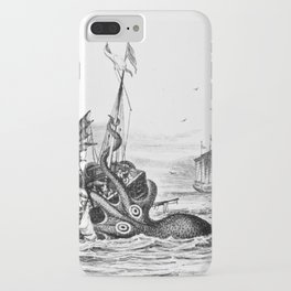1810 vintage nautical octopus steampunk kraken sea monster drawing print Denys de Montfort retro iPhone Case