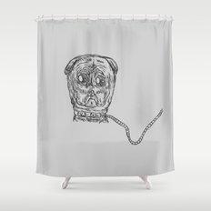 Pug Mug Shower Curtain