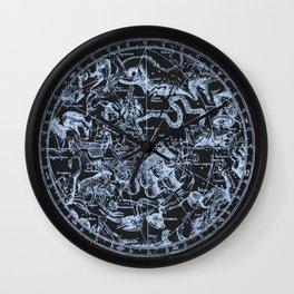 Ice on Black | Zodiac Skies & Astrological Ties Wall Clock