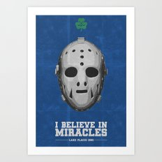 I Believe in Miracles - Lake Placid 1980 Art Print