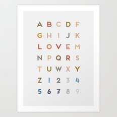 Letter Love - Color Art Print