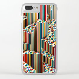 Stretched Pattern Clear iPhone Case