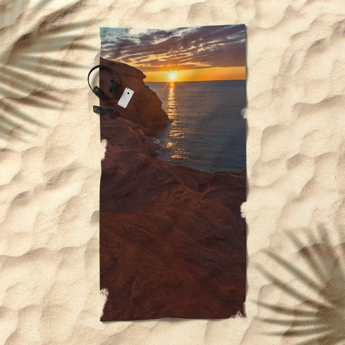 Seacow Head Sunset Beach Towel