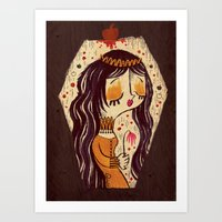 snow white Art Prints featuring Snow White by Pigologist