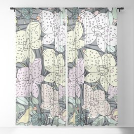 Orchids in Bloom Sheer Curtain