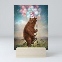 Birthday Bear Mini Art Print