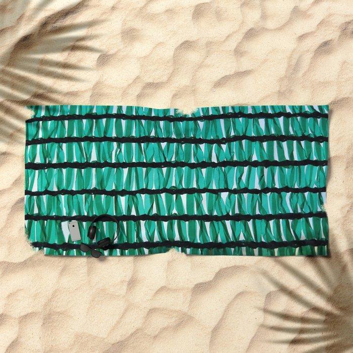 green texture Beach Towel