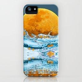 FALLING MOON OCEAN SCI-FI ILLUSION iPhone Case