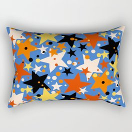 Fun ditsy print with bright colorful stars Rectangular Pillow